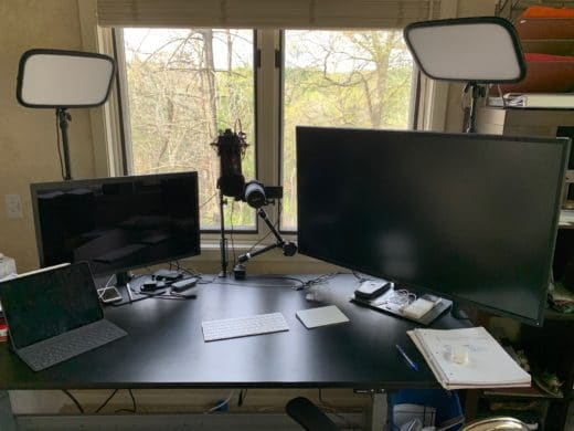 Desktop video studio with a Canon EOS Camera