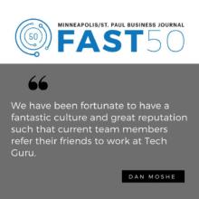 """Tech Guru is 15 On The """"Fast 50"""" List"""